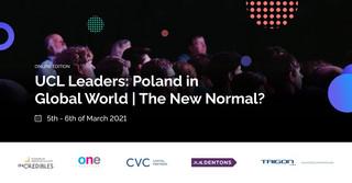 Konferencja UCL Leaders: Poland in a Global World. Zapraszamy 6 marca