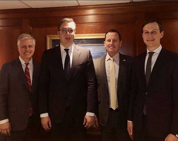 Vučić na sastanku sa Kušnerom, Grenelom i O' Brajanom u Vašingtonu