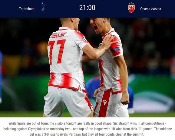 Greška UEFA pred meč Totenhem - Crvena zvezda