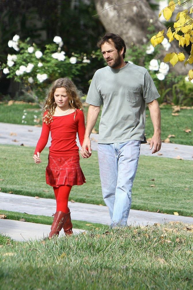 Luk Peri sa ćerkom Sofi Peri