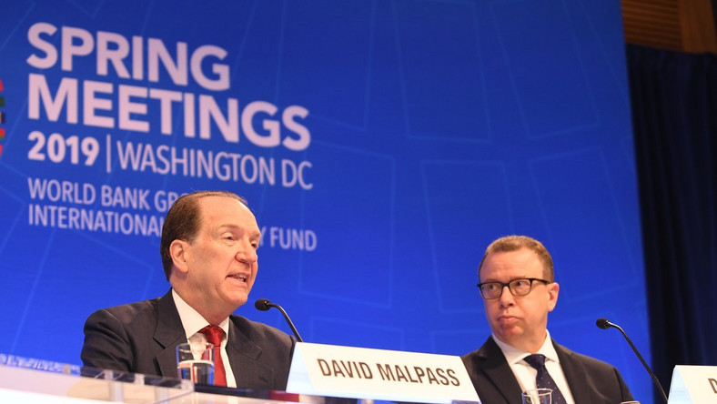 David Malpass delivers his first speech as the new president of the World Bank Group (Photo Credit: twitter/WorldBank)