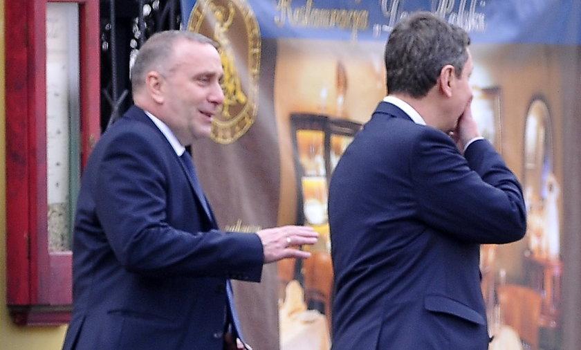 Grzegorz Schetyna i Andrzej Halicki na obiedzie