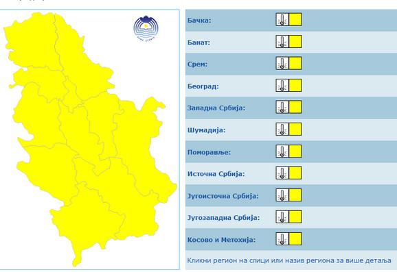 Žuti meteo alarm u celoj zemlji zbog niskih temperatura