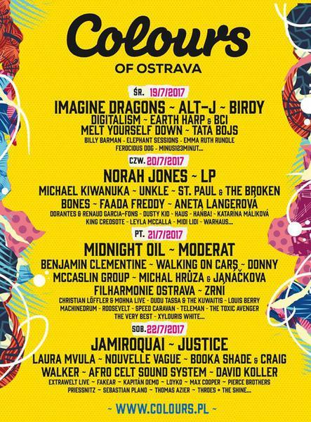 Colours Of Ostrava - podział na dni