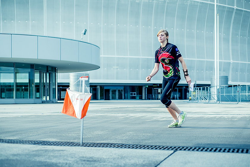 Zawody w bieganiu na Stadionie we Wrocławiu