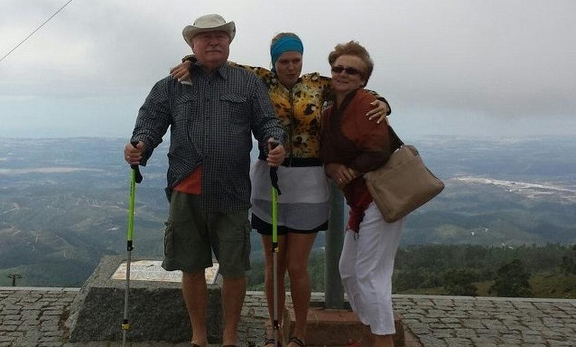 Lech Wałęsa z córką Marią Wiktorią i Danutą Wałęsą