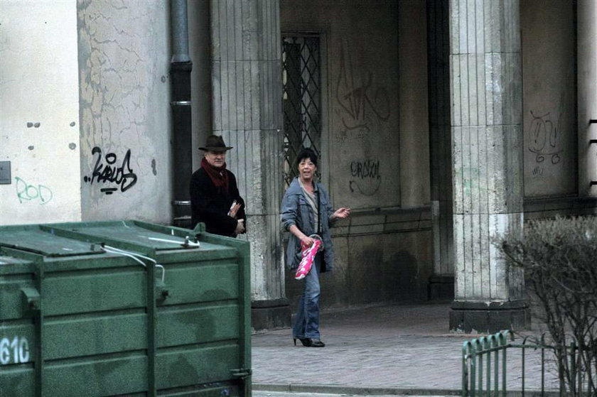 """Kochanka """"Misia"""" i minister Rostowski razem. Na spacerze."""
