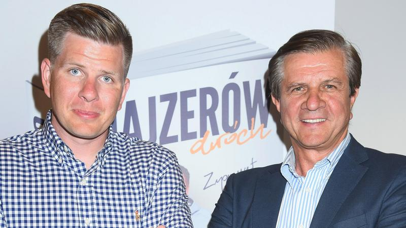 """Filip Chajzer i Zygmunt Chajzer na promocji swojej książki """"Chajzerów dwóch"""""""