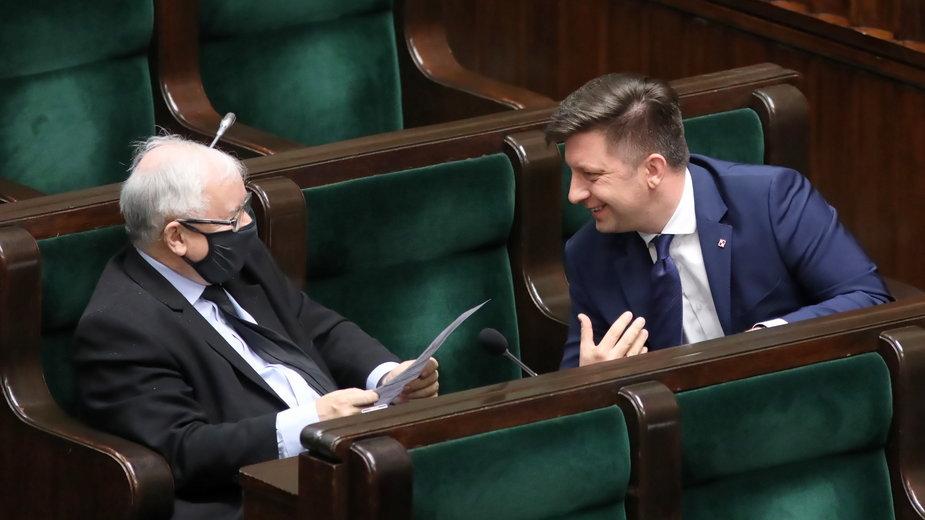 Jarosław Kaczyński i Michał Dworczyk