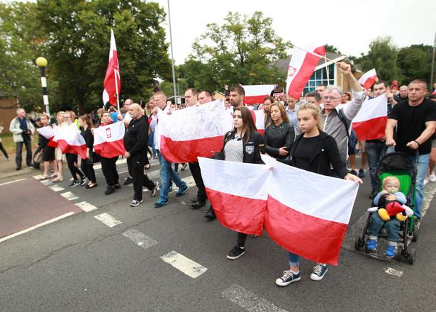 Marsz milczenia w Harlow po śmiertelnym pobiciu Polaka, EPA/SEAN DEMPSEY Dostawca: PAP/EPA.