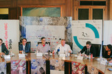 Bitef, konferencija za medije: Filip Ge, Srđan Šaper, Ivan Medenica, Miloš Latinović, Aksel Ditman, Frnak Bauman