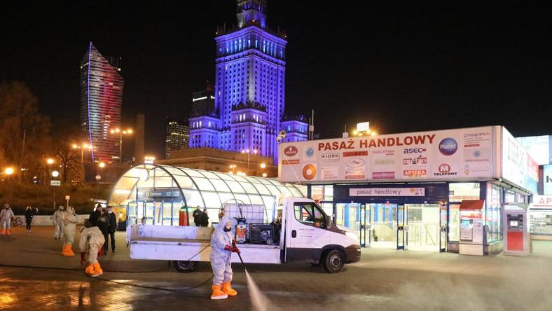 Dezynfekcja warszawskich ulic
