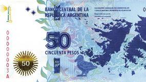 Sporne Falklandy (Malwiny) na nowym argentyńskim banknocie