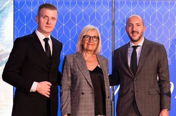 Vidosava Vida Cvetić sa predstavnicima Ringier Axel Springera i Belgrade Waterfronta