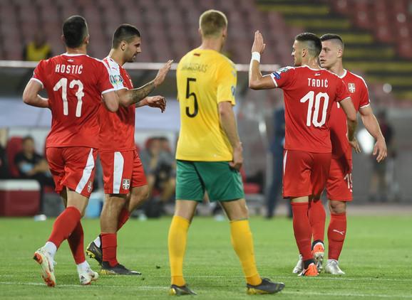 Fudbaleri Srbije protiv Litvanije