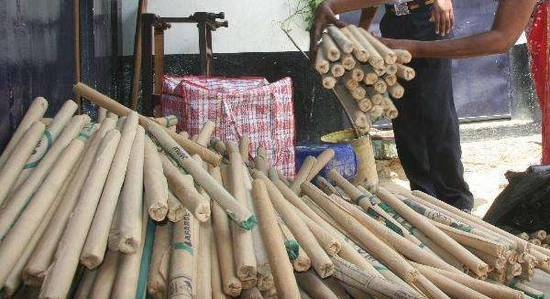 File Photo: A consignment of Bhang seized