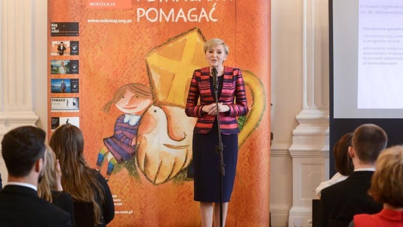 """Prezydentowa wzięła wczoraj udział w gali """"Solidarna szkoła""""..."""