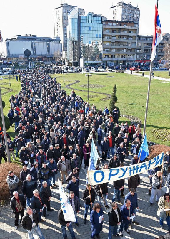 Protest oružara u Kragujevcu