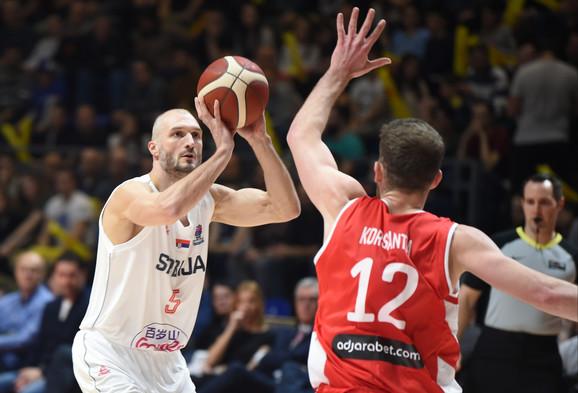 Marko Simonović na meču Srbija - Gruzija