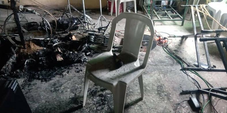 A church in the community was set ablaze by the gunmen [PSJ Nigeria]