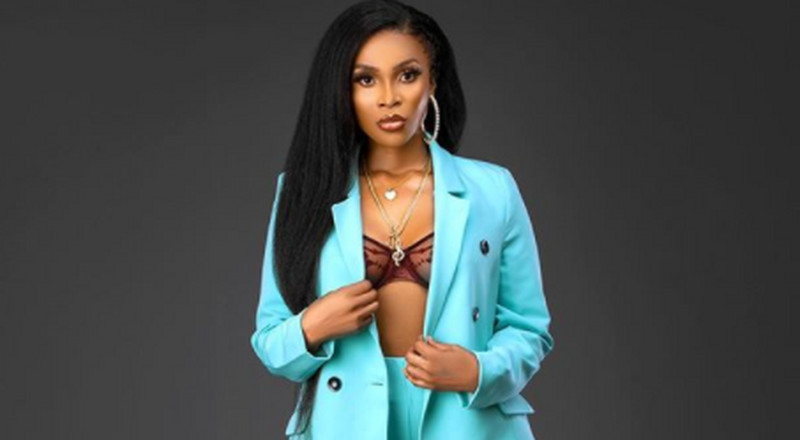 Benedicta Gafah is serving the boss chic look in pants and blazer
