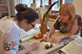 Posetioci izložbe mogli su da nauče i osnovna pravila kaligrafije