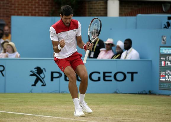 Novak Đoković tokom turnira u Kvinsu