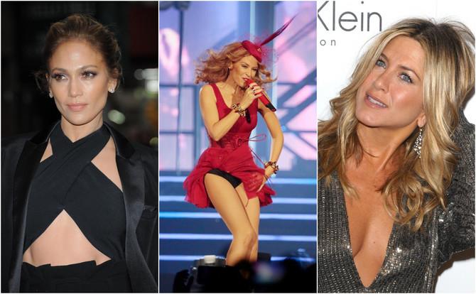 Dženifer Aniston, Dženifer Lopez i Kajli Minog