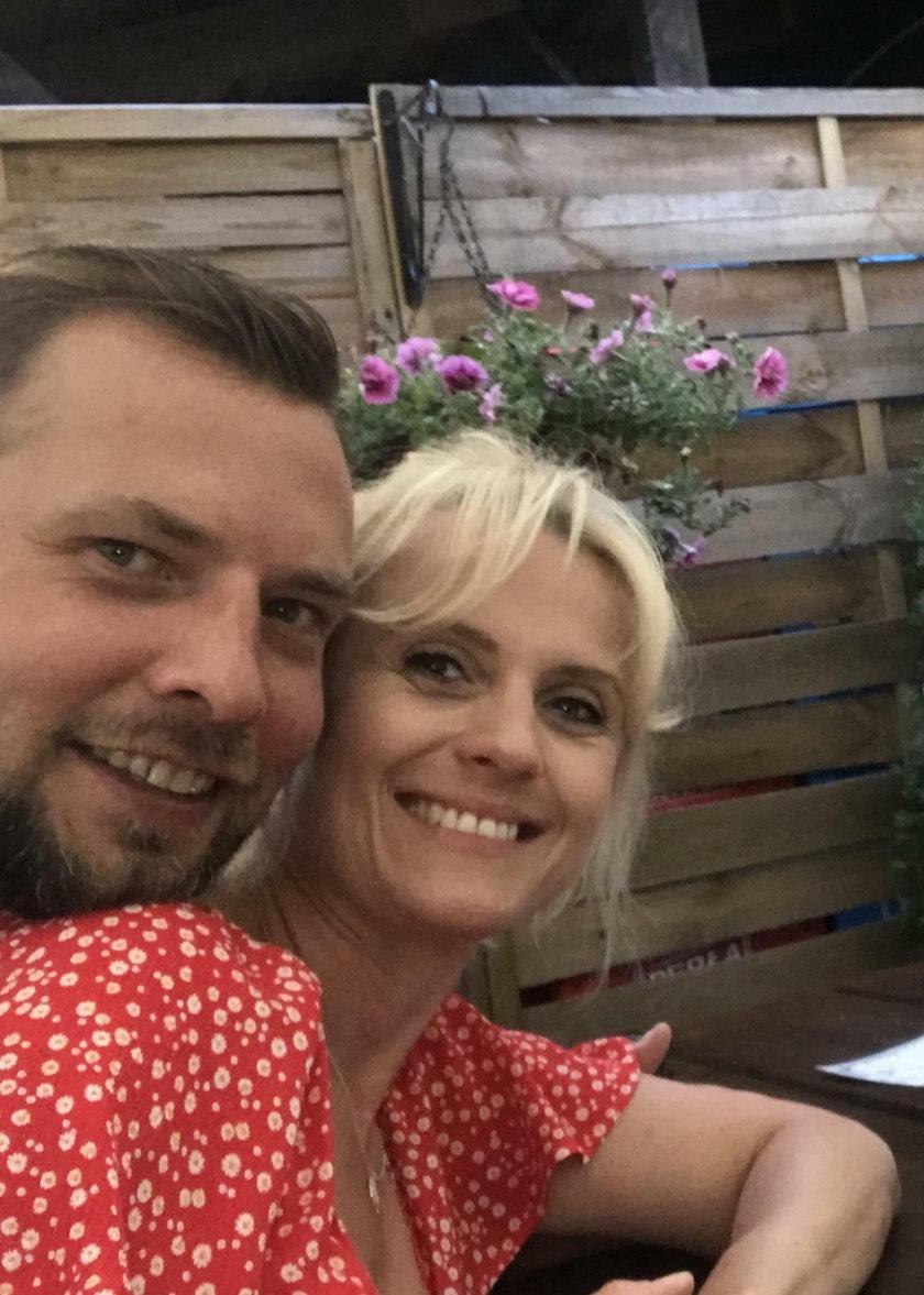 Aleksandra Woźniak-Miszewska z mężem