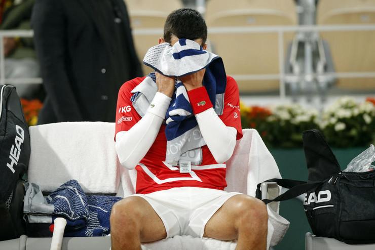 Novak Đoković u finalu Rolan Garosa 2020. godine protiv Rafaela Nadala