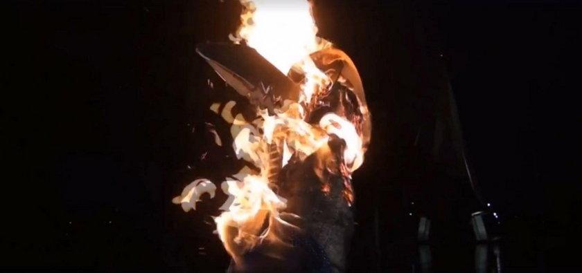 Narodowcy spalili kukłę Żydówki