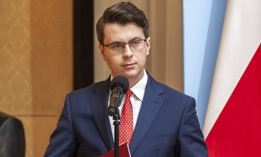 Rzecznik rządu Piotr Müller.