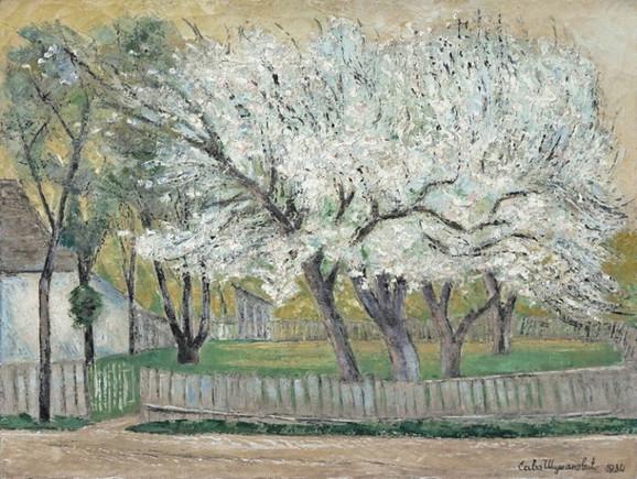 """Sava Šumanović, """"Drveće u cvetu"""", 1934. iz Legata Milice Zorić i Rodoljuba Čolakovića u kolekciji MSUB"""