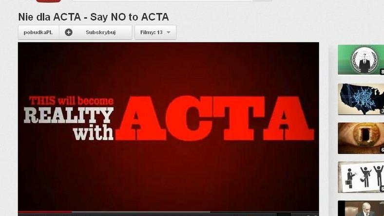 Internetowy sprzeciw wobec ACTA