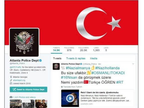 Napadnut i tviter nalog policije Atlante