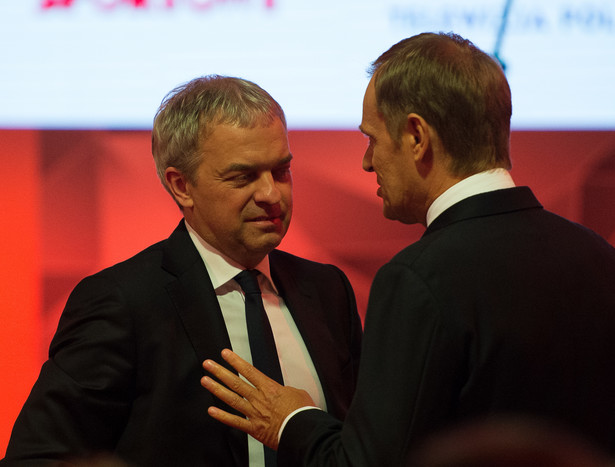 Jacek Krawiec i Donald Tusk