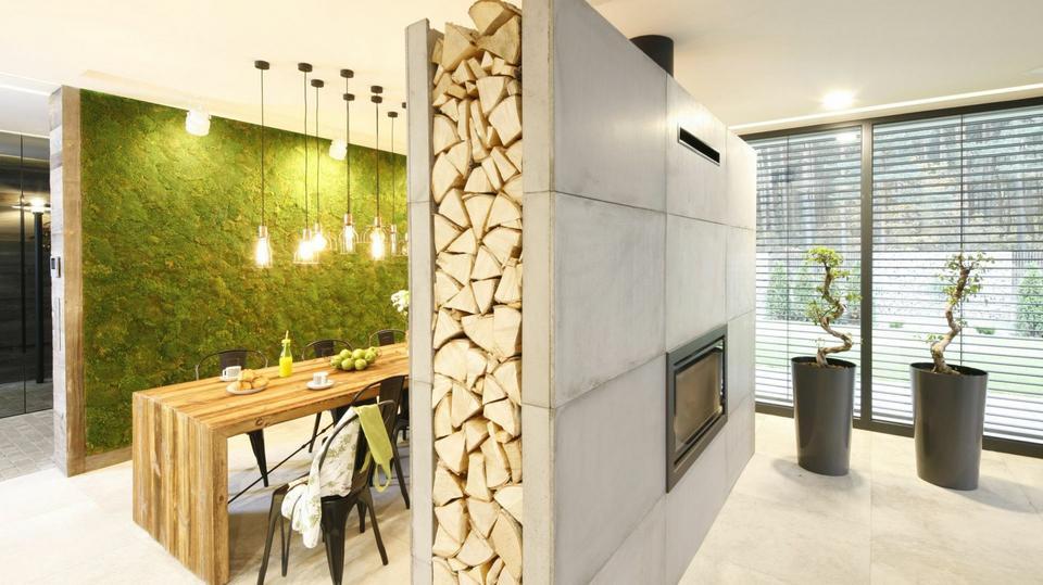 Nowoczesna architektura Pomysły na ścianę w salonie, kuchni i sypialni. Fajne aranżacje z EV31
