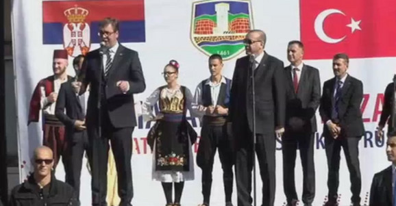 Aleksandar Vučić i Redžep Tajip Erdogan u Novom Pazaru