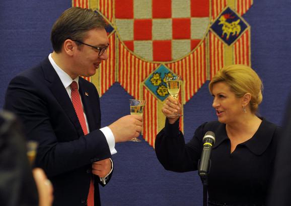 Svečana večera koju je Kolinda Grabar-Kitarović priredila za Aleksandra Vučića
