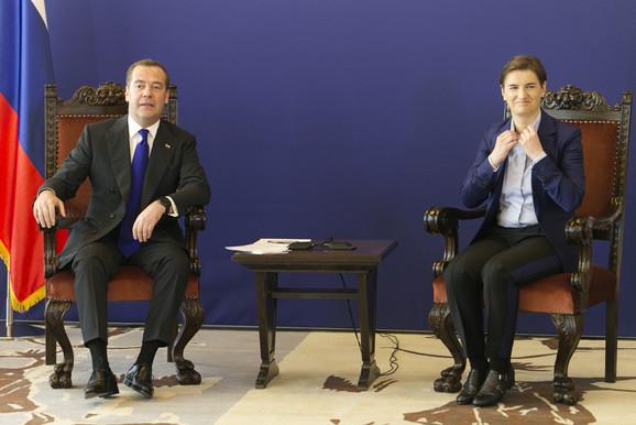 Medvedev i Brnabić