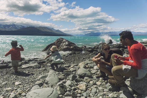 Nad jeziorem Pukaki