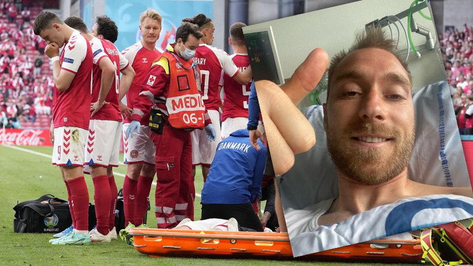 Christian Eriksen. Akcja ratująca mu życie i zdjęcie już ze szpitala