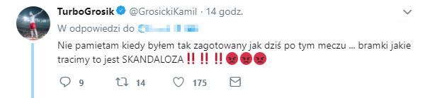 Kamil Grosicki na Twitterze