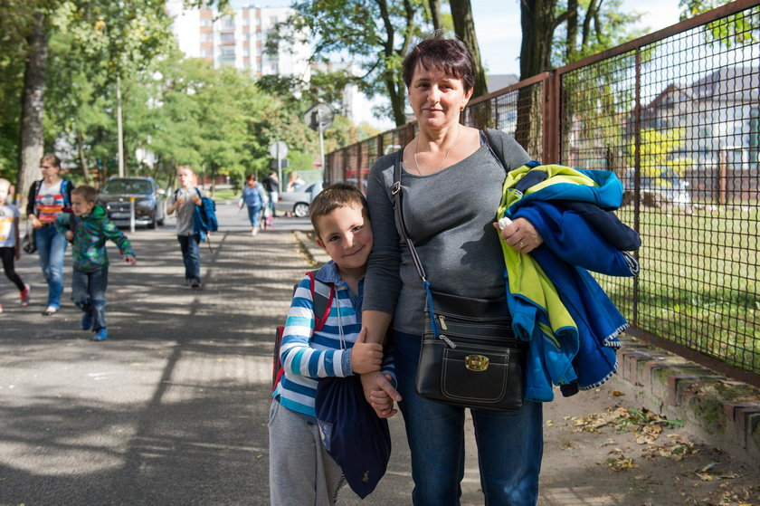 Barbara Herman (53 l.) z wnukiem Michałem (6 l.) z Katowic