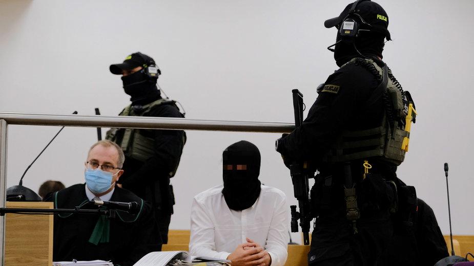 Igor M., ps. Patyk w trakcie rozprawy