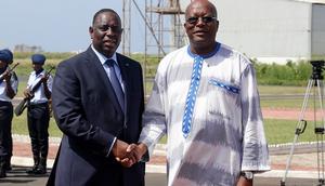 Macky Sall en compagnie de Marc Christian Kaboré