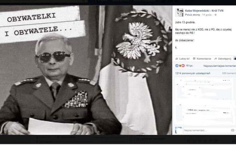 zdjęcie z profilu Kuby Wojewódzkiego