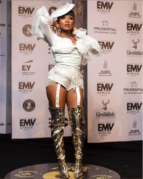 Worst-dressed female celebrities at the 2020 EMY Africa Awards