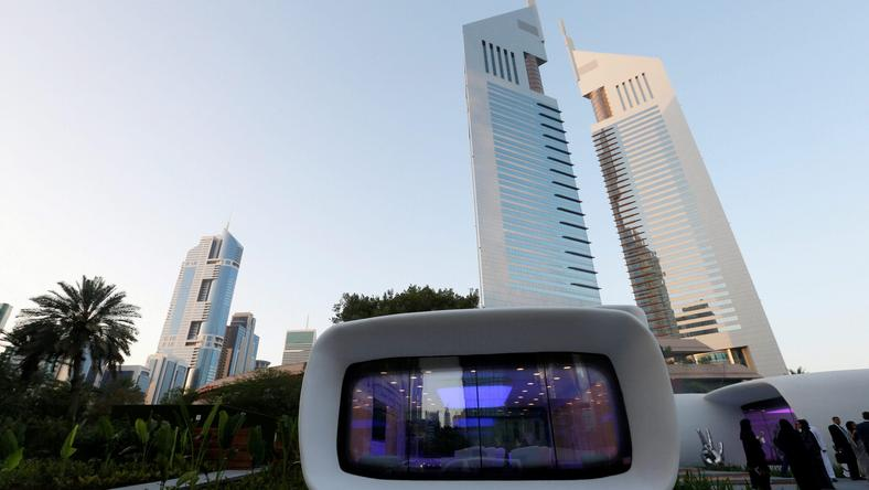 The world's first functional 3D printed offices are seen in Dubai