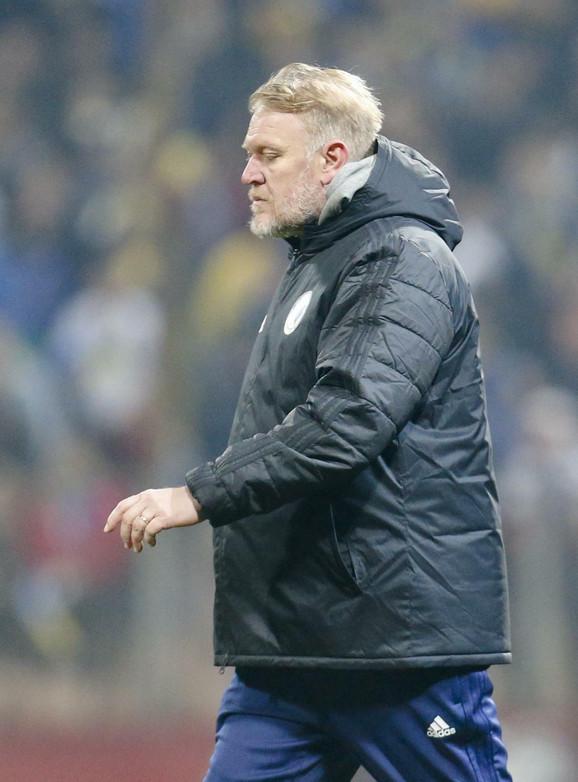 Robert Prosinečki na jednom od mečeva fudbalske reprezentacije Bosne i Hercegovine